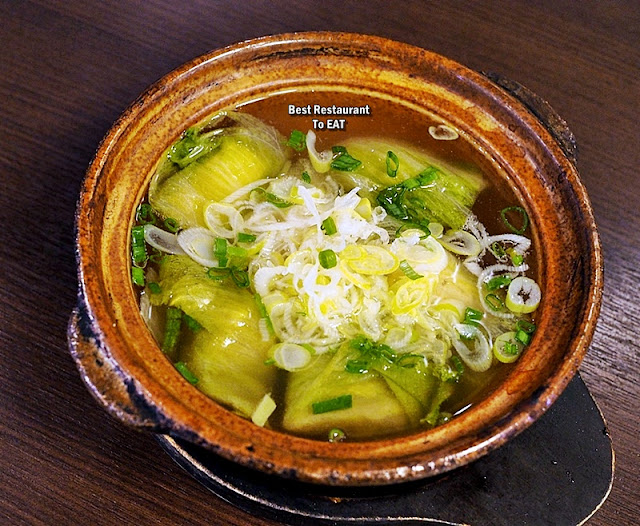 YUGO HOUSE PUBLIKA Signature Menu - Cabbage Wrapped with Chicken Breast in Clear Soup