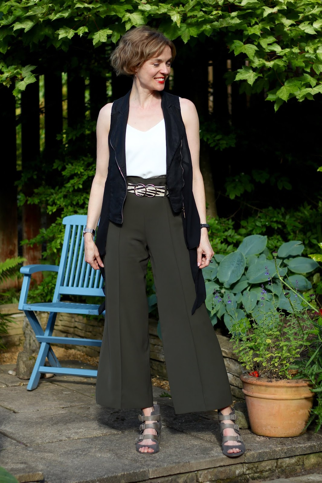 Long Khaki Culottes |Summer Outfit | Fake Fabulous