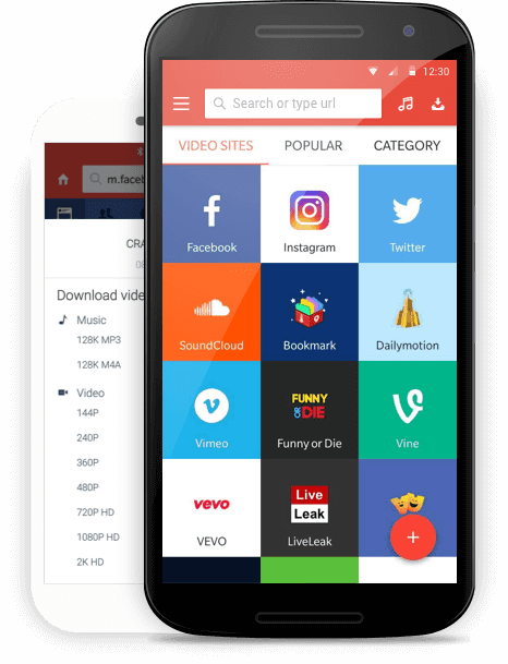 Aplikasi Snaptube di Android