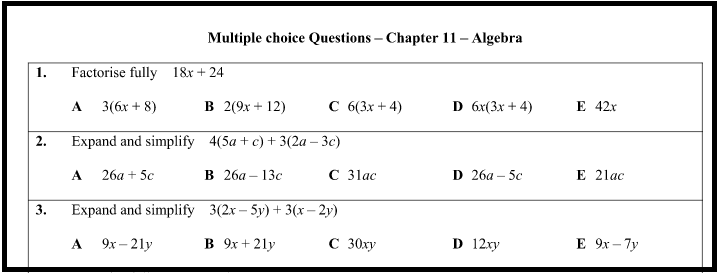 Resourceaholic: Multiple Choice Questions