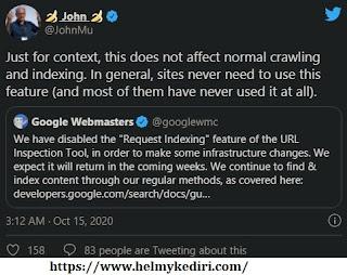 Inspeksi url google dihentikan 2