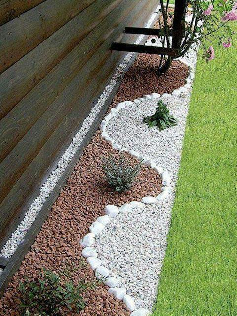 Yin and Yang rock garden ideas