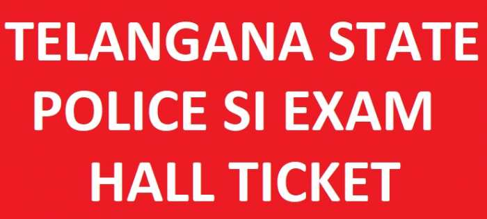 TS Police SI Hall Ticket 2018