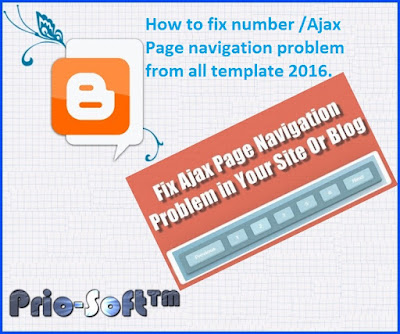 How to fix number /Ajax Page navigation problem from all template 2016.