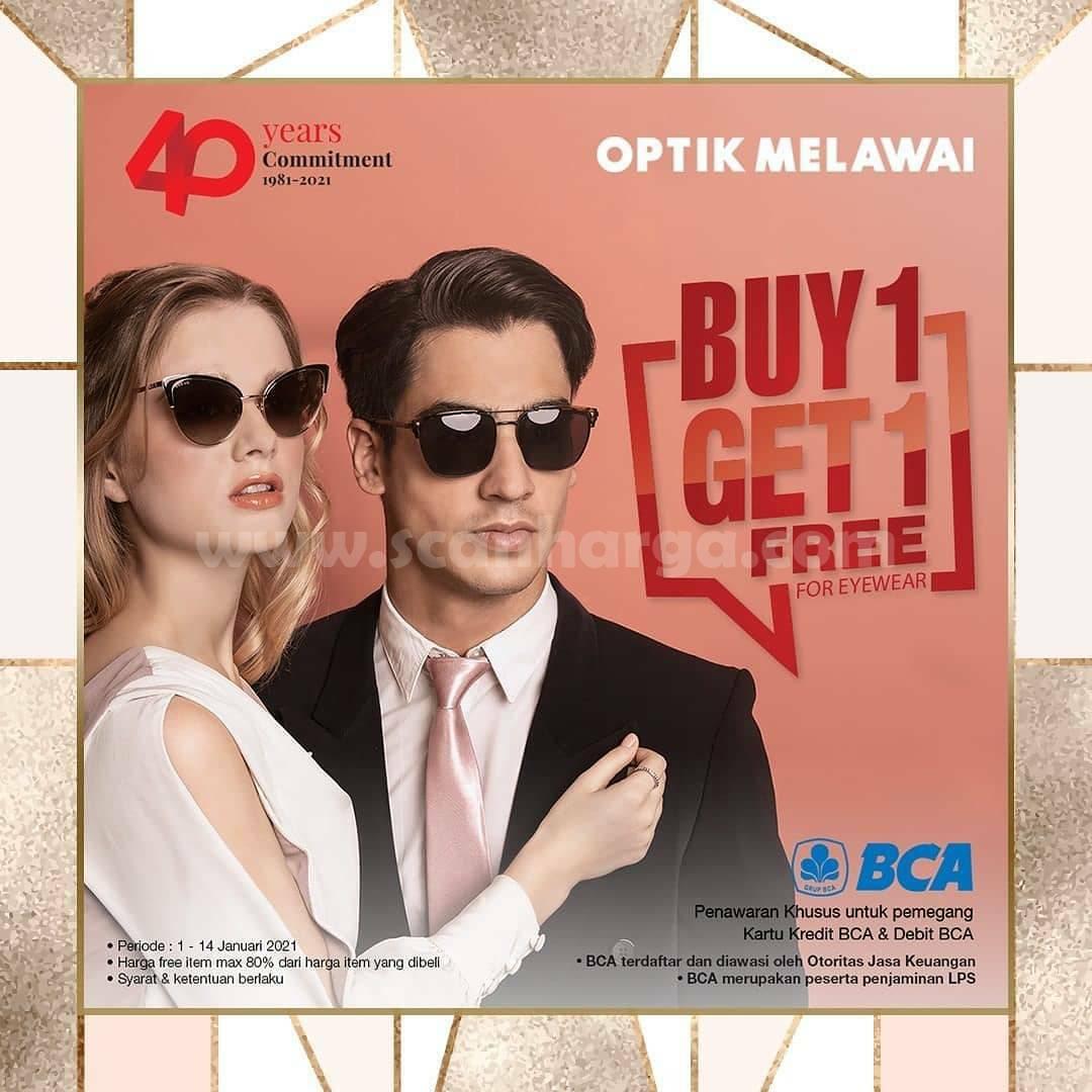 OPTIK MELAWAI Promo Beli 1 Gratis 1 dengan Kartu Kredit Debit BCA