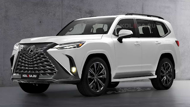 صور بتصميم تخيليكي لسيارة لكزس LX القادمة