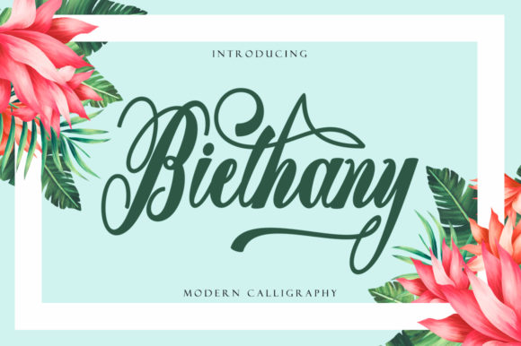 Biethany Caligraphy Font
