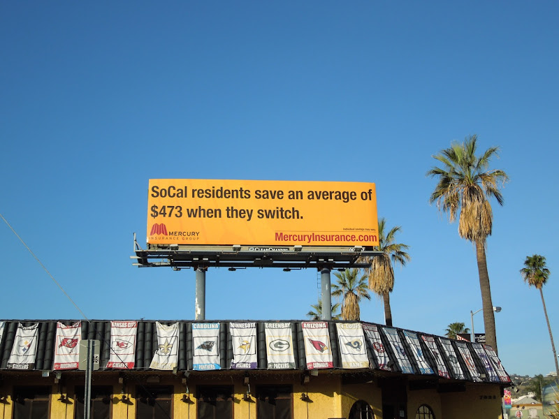 Mercury SoCal Insurance billboard