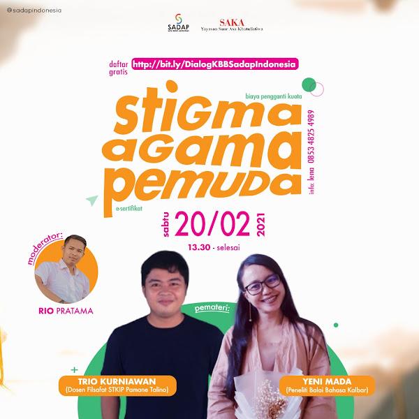 Sadap Ajak Pemuda Lebih Toleran Lewat Dialog Stigma, Agama dan Pemuda