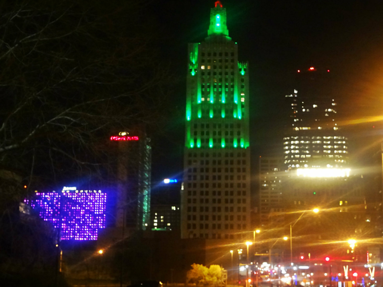 Also, This Town Is Known For Making A Big Deal Out Of St. Paddyu0027s So The  Lights Are Appropriate .