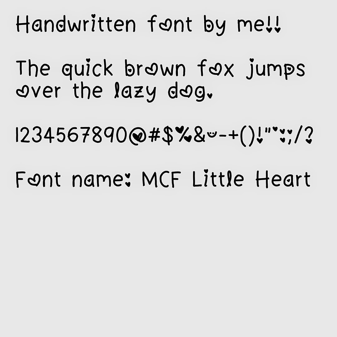 My Cute Fonts: MCF Little Heart Font (Android Only