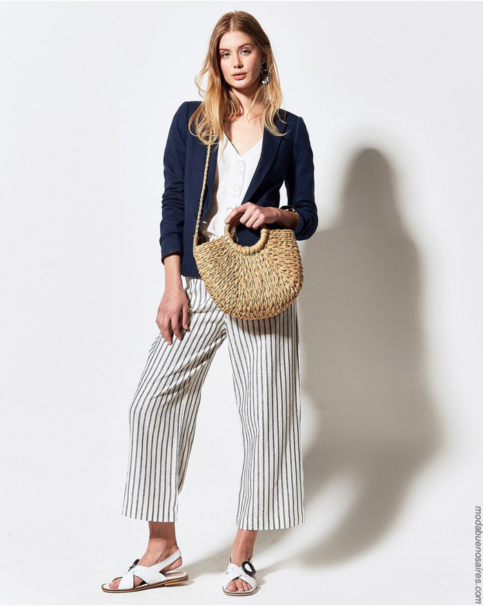 Sacos. blusas y pantalones a rayas primavera verano 2020.