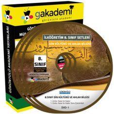 Görüntülü 8.Sınıf Din Kültürü ve Ahlak Bilgisi Görüntülü Eğitim Seti 5 DVD