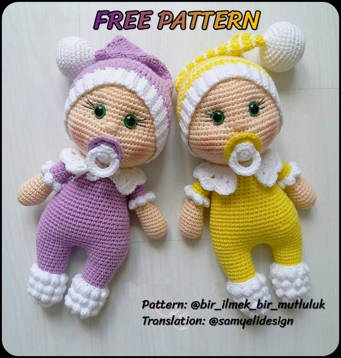 Crochet doll pattern / Amigurumi doll pattern - AMARYLS Collection ... | 1144x1092