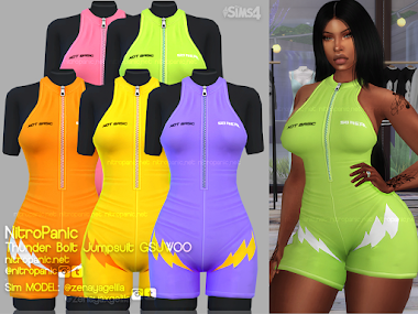 Thunder Bolt Jumpsuit GSUWOO for The sims 4