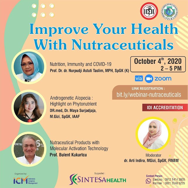 Webinar Improve Your Health with Nutraceuticals