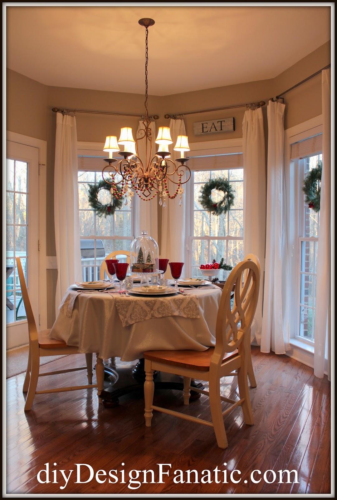 Christmas, Breakfast Room, Christmas tablescape, Christmas decorating, Christmas decorating