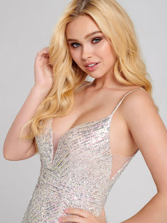 Petal Color Prom dress Front Design