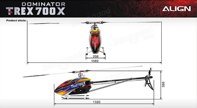 RC Helicopter Super Combo Align TREX 700X Dominator 4