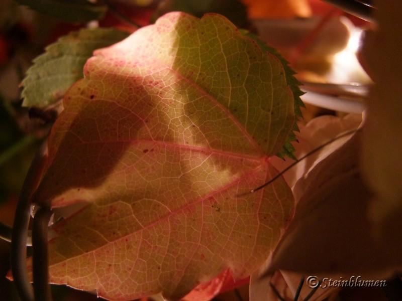 Herbstkranz mit Lichterkette