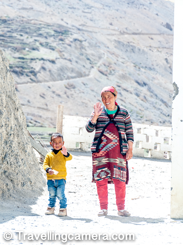 Dhankar Village - A spectacular village in Himachal Pradesh overlooking Spiti river and Pin river, with very old Gompa, stunning lake and a wonderful fort telling tails of Tibetan Culture