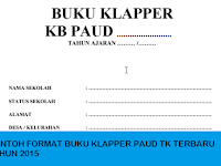 CONTOH BUKU KLAPPER TK PAUD TERBARU TAHUN 2015
