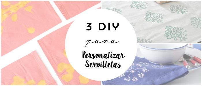 3 diy para personalizar servilletas
