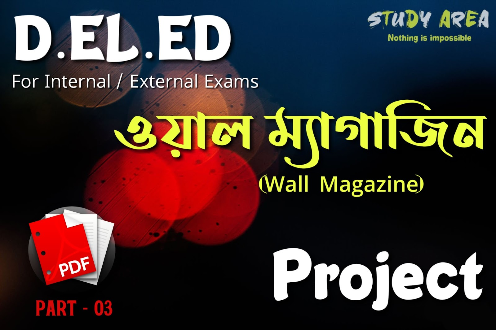 D.EL.ED Wall Magazine Project Works For Internal / External Exams Part -03