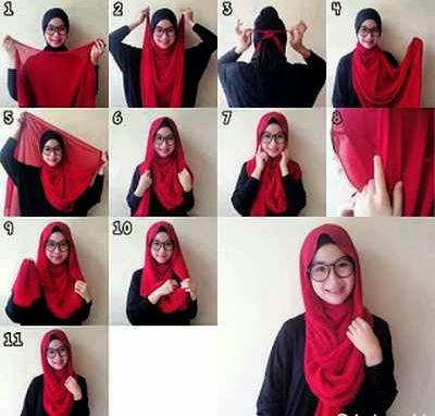 10 Tutorial Cara Memakai Jilbab Segi Empat Untuk Pergi Ke Sekolah 2017 Tutorial Hijab Manis