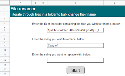 Screenshot of File renamer text fields