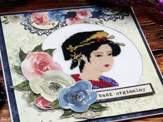 Imieniny miesiąca - kartka orientalna