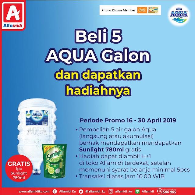 #Alfamidi - #Promo Beli 5 Galon Aqua Atau VIT & Dapatkan Hadiahnya (s.d 30 April 2019)