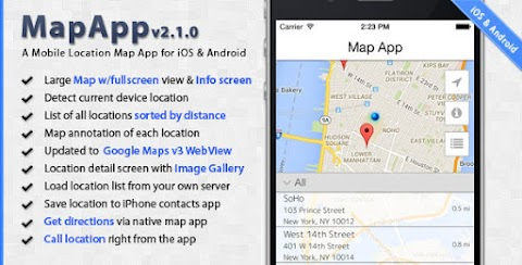 MapApp - iOS and Android Mobile Location Map App
