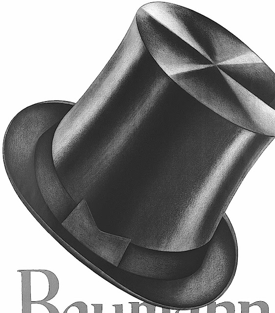 an Otto Baumberger 1928 illustration of a top hat