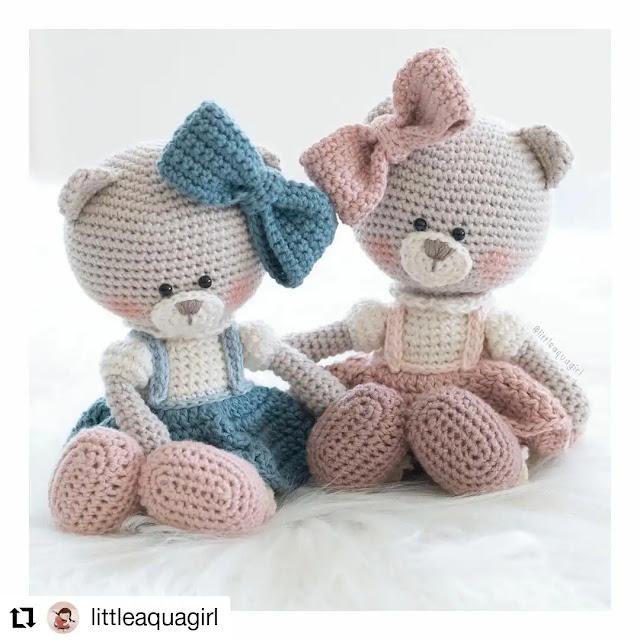 Los más tiernos peluches para bebés a crochet