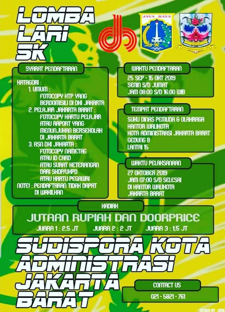 Lomba Lari 5K - Jakarta Barat • 2019