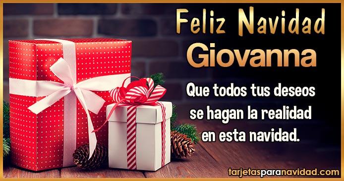 Feliz Navidad Giovanna