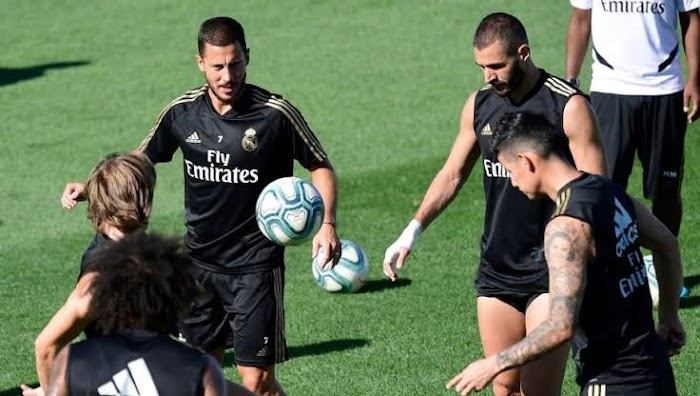 Eden Hazard and James return to full training with Real Madrid