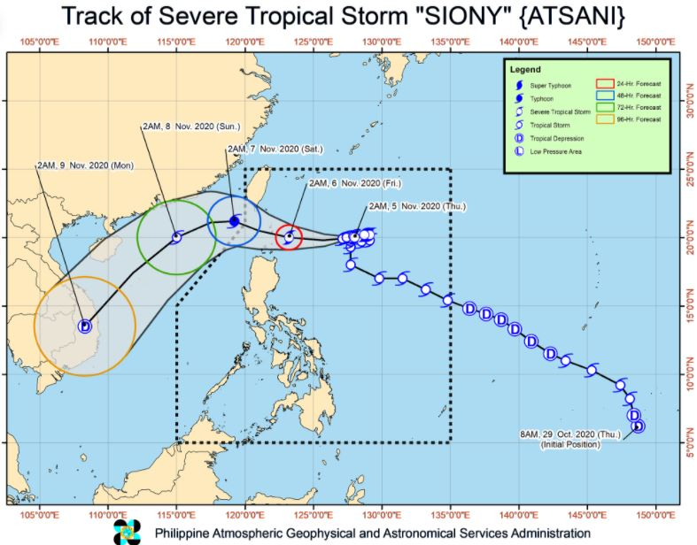 'Bagyong Siony' PAGASA weather update November 5, 2020