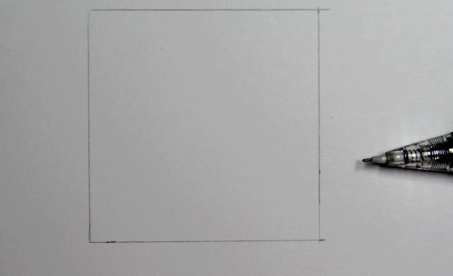 Dibujo a lápiz de un cuadrado