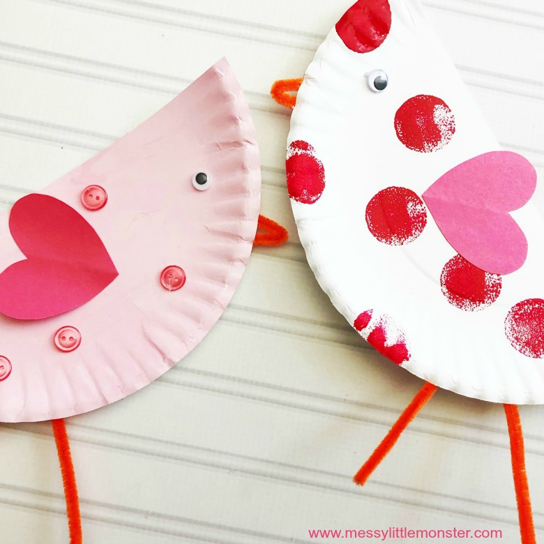 love birds valentines day craft for toddlers