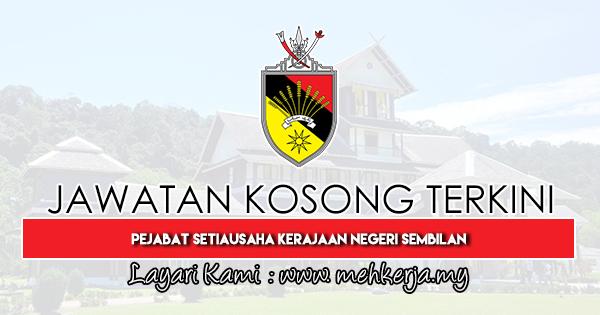 Jawatan Kosong Terkini 2019 di Pejabat Setiausaha Kerajaan Negeri Sembilan