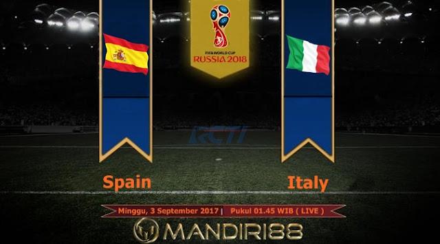 Prediksi Bola : Spain Vs Italy , Minggu 03 September 2017 Pukul 01.45 WIB @ RCTI