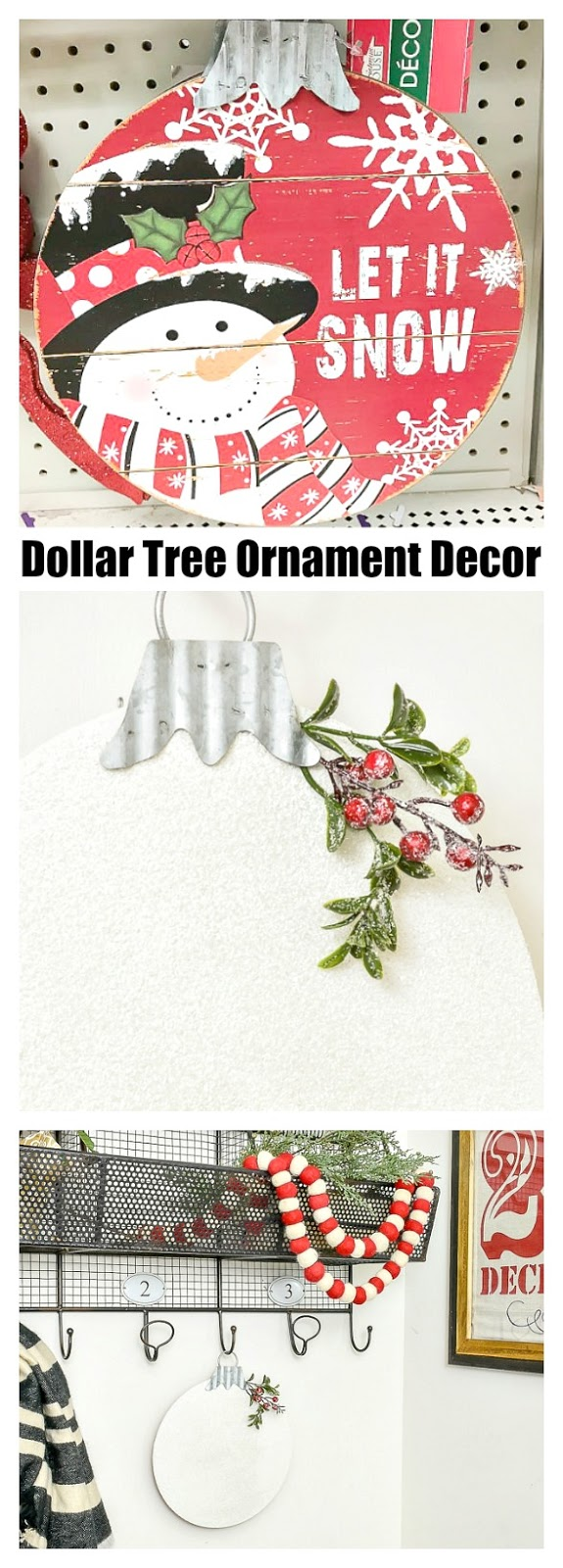 Dollar Tree wall ornament decor makeover