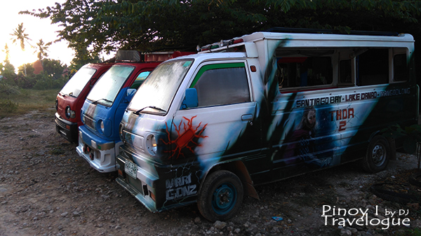 Artistically painted multicabs stationed near Bano Beach Resort