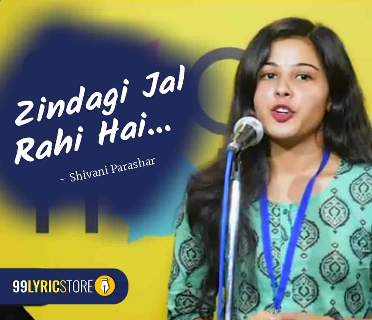 The beautiful poem 'Zindagi Jal Rahi Hai' has base on environment and written and performed by Shivani Parashar on the stage of The Social House.
