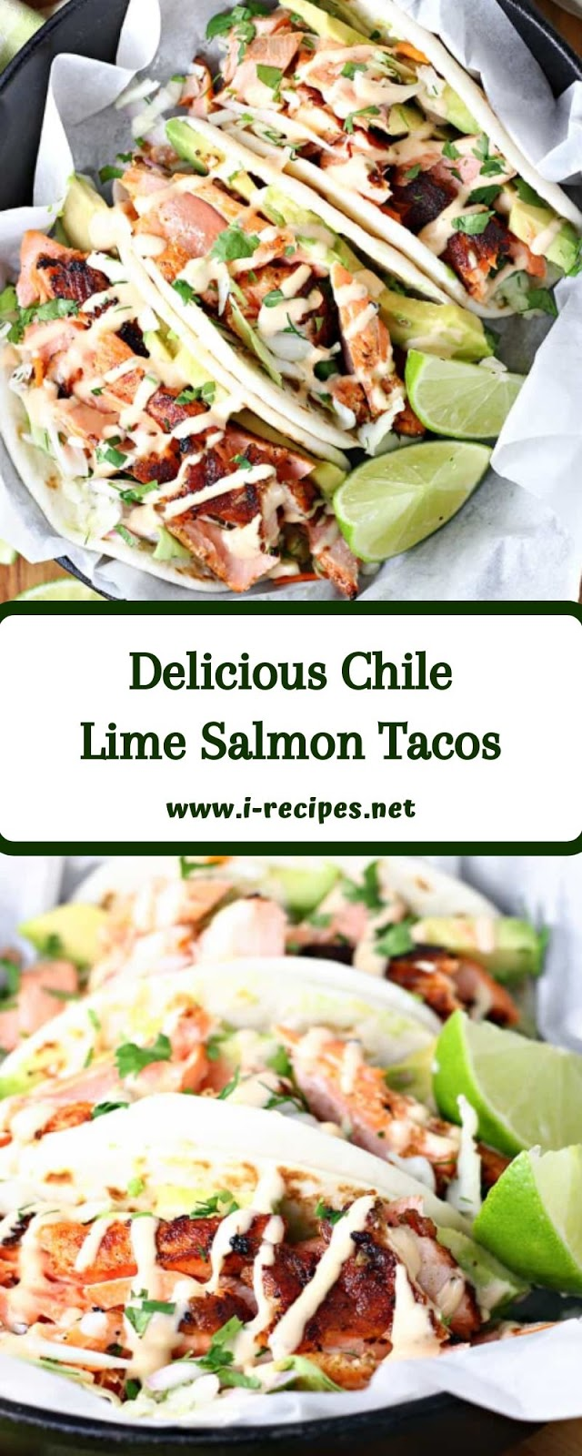 Delicious Chile Lime Salmon Tacos