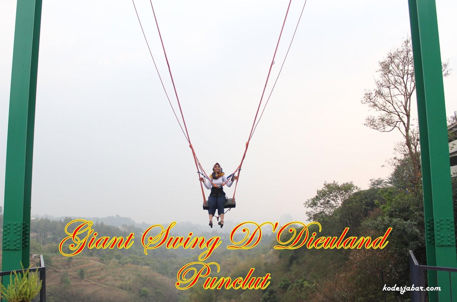Giant Swing, Wahana Ayunan Ekstrem di Destinasi Wisata D'Dieuland Bandung