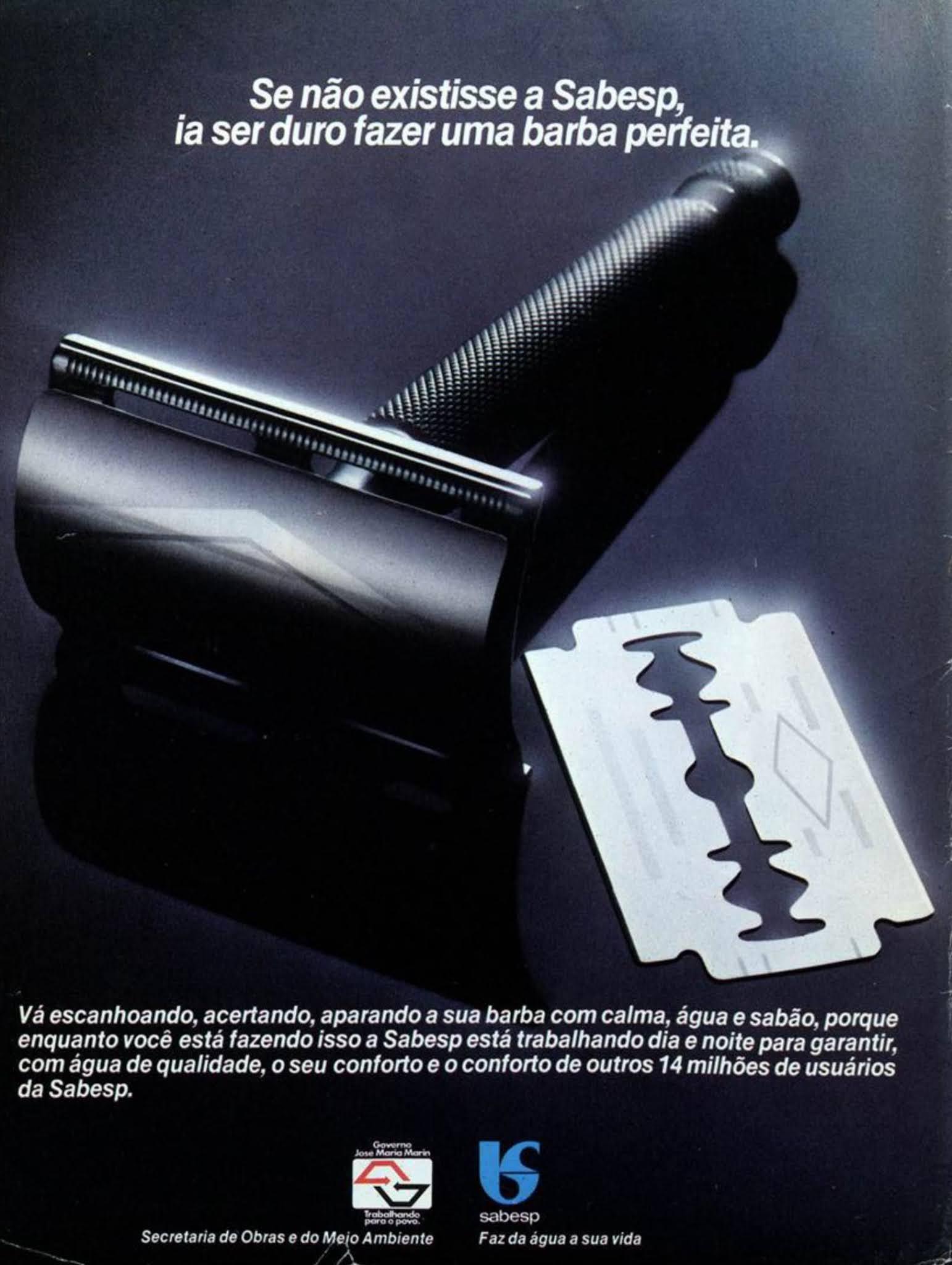 Anúncio institucional da Sabesp veiculado no ano de 1983