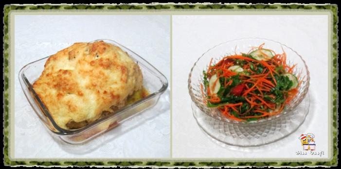 Couve-flor gratinada com creme de queijos 1
